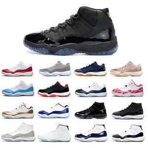 2020 11S Basketball shoe Men Space Jam Concord 45 New Bred Legend Gamma blue UNC Gym Satin
