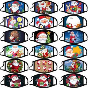 DHL Frohe Weihnachten Gesichtsmaske Erwachsene Kinder Weihnachtsmann Geschenk Schneeflocke Cartoon Designer Breathstaubdichtes PM2.5 Gesichtsmaske facemask Drucken