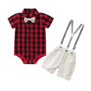 داخلية + وزرة الأولاد مجموعة vetement bebe garcon طفل رضيع الملابس الصيفية 70/80/90 / 95CM جديد Y1112