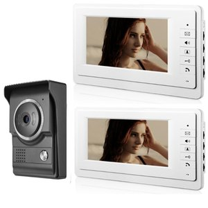 SmartYIBA video da porta Intercom 7 polegadas Monitor Wired Vídeo porta telefone campainha Visual Entrada Speakerphone Intercom Kit Camera