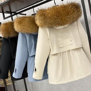 Large Natural Raccoon Fur Hooded Winter Down Coat Women 90% White Duck Down Jacket Thick Warm Parkas Female Outerwear1