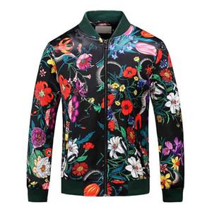 Veste de mode coupe-vent pour femmes manches longues à manches à manches à capuche Homme à glissière Vêtements avec motif floral animal Plus Taille M-3XL