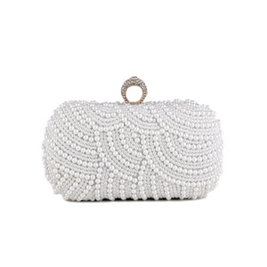 Xwikc Luxurys Designer Purse 2020 Shoulder Vintage Handbag Wedding Women ELegant Bags Evening Bag Shiny Bag Clutch Pearl For Party Lnjia