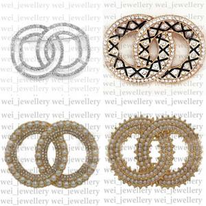 Diseñador al por mayor Broche Cristal Crystal Fashion Brooch Pins Women Designer Joyería Broche de lujo Broche Trajes Broches Venta caliente