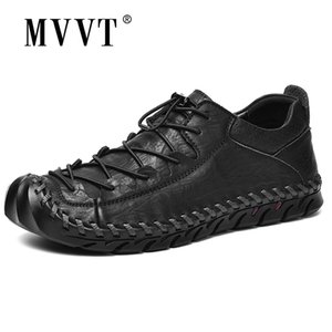 MVVT Handmade Shoes Shoes Leisure Split Leather Shoes Shoes Uomo Mocassini Super Soft Men Appartamenti Scarpe casual LJ201202