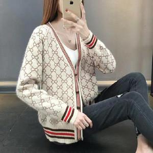 여성 디자이너 의류 2020 여성 스웨터 고품질 브랜드 디자이너 스웨터 여성 동일한 가을 겨울 여자 스웨터