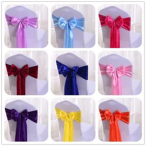 Wedfavor 25 stücke Satin Bogen Schärpen Wedding Chair Cover Band Schmetterling Krawatten für Partyereignis Hotel Bankett Dekoration