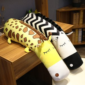 Creative Cartoon Forest Stuffed Animal Crocodile Plush Toy Long Pillow Cute Yellow Deer Lion Unicorn Girl Sleeping Pillow Gift 1011
