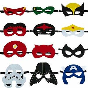 2020 Mask Halloween Weihnachtskinder erwachsen Partei Kostüme Masken Cosplay Zubehör Jungen und Mädchen Superhero Geschenke