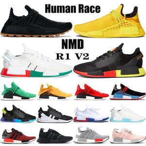 New NMD Human Race Laufschuh Pharrell Williams gelb BBC Infinite Species R1 V2 Kern schwarz Carbon rot triple weißen Turnschuhe Frauen Männer