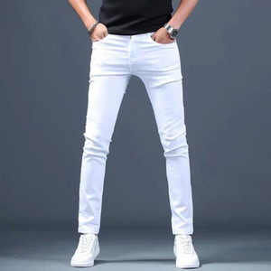 Designer White Jeans Men Brand New Fashion Elastic Mens Denim Pants Trousers Casual Slim Fit Stretch Skinny Jeans Pants for Men 201120