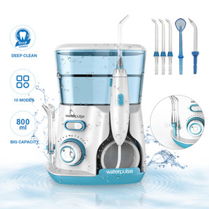 WaterPulse V300 Wiral Irrigator Water Flosser Dental con 5 Tips Jet 800ml 10 Modo Dientes Limpieza Oral Higiene Viajes Water Floss