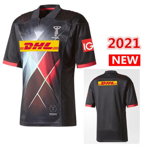 Hot sales Best Quality 2021 Harlequins JERSEY home rugby Jerseys League shirt HARLEQUINS rugby jersey shirts s-5xl