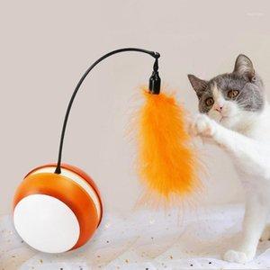 Kreative katze spielzeug interaktiv automatische rollierkugel für hunde intelligente led flash katze spielzeug elektronische dog1