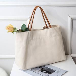 Canvas Handbags For Women Fashion Tote Bag Beach Bags Reusable Shopping Bags Casual Cart Large Capacity Ladies Shoulder Bags Tote GWE4424