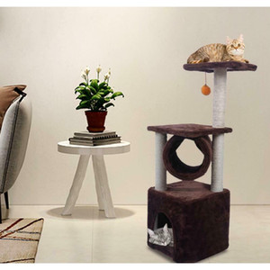 """black friday 36"""" cat tree bed furniture scratch cat tower post condo house brown"""