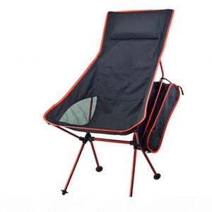 Outdoor portable folding extended moon lounge chair Aluminum alloy Non-slip Removable Portable Beach Self-driving tour