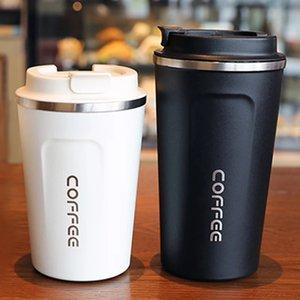 2021 New 500 380ML Thermos Flask Coffee Mug Thickened Big Car Thermos Mug Travel Thermo Cup Thermos Mug For Gifts Vacuum Flask AL7480