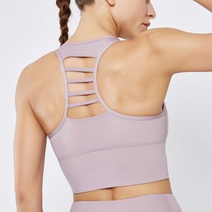 High intensity sports running bra rose stripe culture high impact dry fast gym training fitness women's bra solid body armor - type