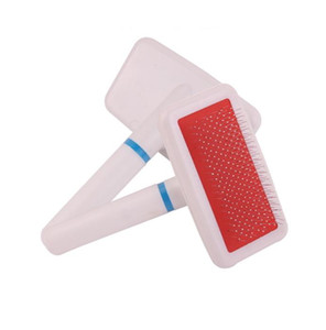 Pet Supplies Manufacturer Wholesale Pet Cleaning Products With Protection Point Air Bag Plastic Handle Hair Removal Comb