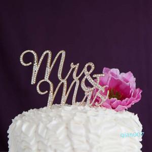 يوم الديكور الفضة الذهب السيد السيدة حجر الراين كعكة الزفاف الاشتباك الذكرى عيد ميلاد الحزب الزفاف دش عيد الحب