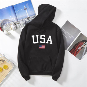 Wram USA Letter print women hip hop Long Sleeve Hoodie Sweatshirt Harajuku Jumper Hooded Pullover Tops Casual Loose vintage Coat