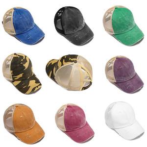 Хвостик Грязных Булочек Шляпы Девушка Бейсболки Грязных Булочки Шляпы Промытый хлопок Unisex Visor Cap Hat Открытого Snapback Caps Этикетка FWE2192