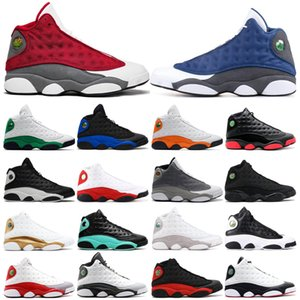 New mens trainers basketball shoes 13 13s Red flint Hyper Royal Starfish LUCKY green Dirty Bred Chicago Grey toe sports sneakers size 7-13