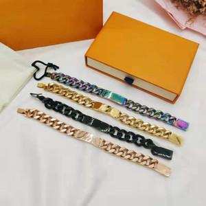 louis vuitton 20SS Ligações Chain Pérolas mascote articulações de bambu da sorte têmpera designer de gradiente reação pulseira carta Monograma homens mulheres jóias KlL2 #