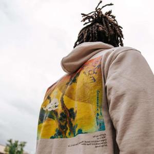 Herrenmode Hip Hop Ins Ins Kanye Kleines Mädchen trifft Ghost gedruckt Samt Pullover Hoodie