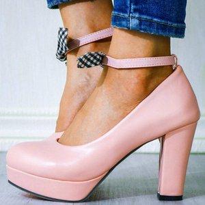 GIGIFOX High Heels New Plus Size 43 Plattform süßer Bogen-Partei-Hochzeit Schuhe Frauen Pumpen Weiblich