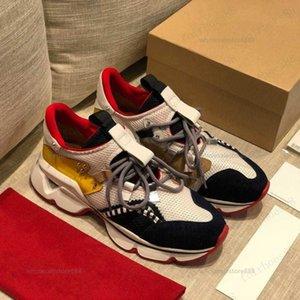 2021 мода красные дна мужчины женщин повседневная обувь шипы заклепки горный хрусталь платье вечеринка ходьба обувь кроссовки Chaussures de Sport