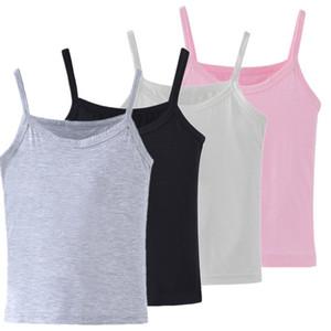 2020 New Kids Underwear Model Cotton Girls Tank Tops Candy Colored Girls Vest Children Singlet Tops Undershirt for 2-12 Years