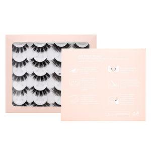 New 10Pairs Natural False Eyelashes Thick Curl Faux 3D Mink Eyelashes 8D Fake Lashes Makeup Eyelash Extension Fake Mink Eyelashes