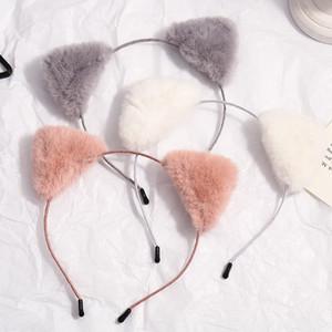 Sweet Cat Ears Head Bands Fashion Hair Bezel Balls Plush Hairband Headband Women Girls Hair Hoop Birthday Party Hair Accessories