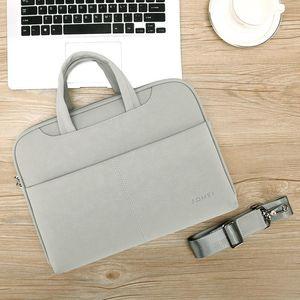 PU Waterproof Shoulder Laptop Bags Briefcase Handbag For Macbook Air 13 Case 13.3 14 15.6 Fashion Women Bag