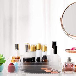 16pcs Drawer Storage Box Transparent Makeup Brush Container Desk Organizer Tableware Organizer Box For Makeup bbyBnP