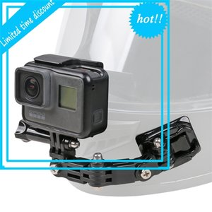 SUREWO Accessories Motorcycle Helmet Mount for GoPro Hero 7 6 5 black Session 4 Silver 3+ SJ6000 YI and More