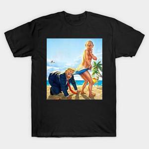 Funny Trump Putin Beach Game dos desenhos animados T-shirt dos homens de algodão O-pescoço manga curta t shirt novo tamanho S-3XL