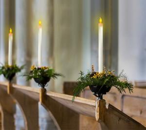 Kerzen elektronisch mit Kerzenständer LED-Tablett Verjüngungshalter CandleLight Dinner Candle Hochzeit Restaurant Dekorative Stange Nicht Wachs
