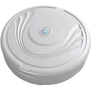 Home Automatic Sweeping Vacuuming Robot Floor Cleaning Robot Vacuum For Pet Hair, Hard Floor, Medium-Pile Carpets White