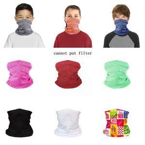 Kids Bandana Neck Gaiter Magic Scarf Protective Face Shield Children Outdoor Sport Headbands Breathable Tube Headwear OWC2848