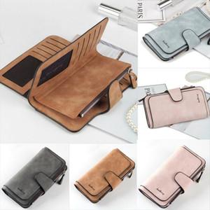 Heißen Verkaufs-Frauen-Dame Leather Trifold Karten-Mappen-Kupplungs-Scheckheft-Handtasche mit Reißverschluss Geldbeutel-Karten-Telefon-Halter lange Entwurfs-Dame-Fashion Wallets