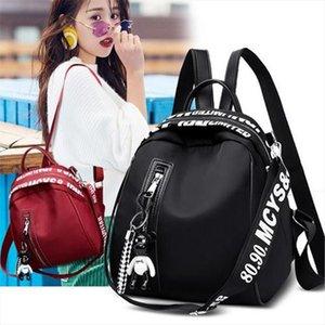 NOENNAME NULL Frauen Nylon-Schule-Rucksack Reisetasche Rucksack Umhängetasche Tasche
