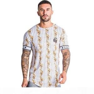 Luxury Baroque T Shirt Men Summer Striped Tshirt Fashion Tops Streetwear Male T-shirts Hip Hop Brand Clothing Mens Tee T Shirt