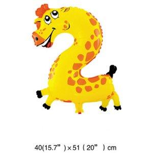 Животное шар цифровой шар алюминиевой фольги шар мультфильм формы Красочные шары партия украшения для ребенка День рождения