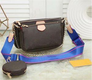 3 шт. Набор избранные мульти Pochette аксессуары женщины crossbody кошелек мешок сумки сумки для цветов дизайнеры на плечо леди кожаная сумка 221