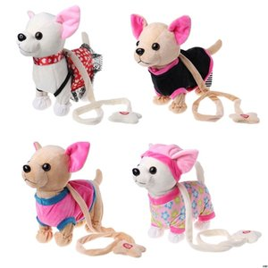 İnteraktif Oyuncak ile Çantası İçin Çocuk Çocuk Doğum Hediyeler Singing Elektronik Pet Robot Köpek Fermuar Yürüyüş LJ201105