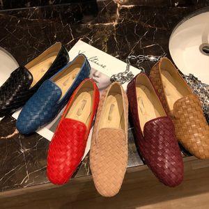 Nueva bv punto plana cabeza de fondo redondo de cuero Lefu zapatos de las mujeres solteras