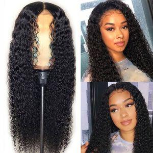 Горячие Популярный природный Soft Black вьющегося Волнистые Длинные Дешевые парики с волосами младенец жаропрочных Glueless синтетических париками для чернокожих женщин